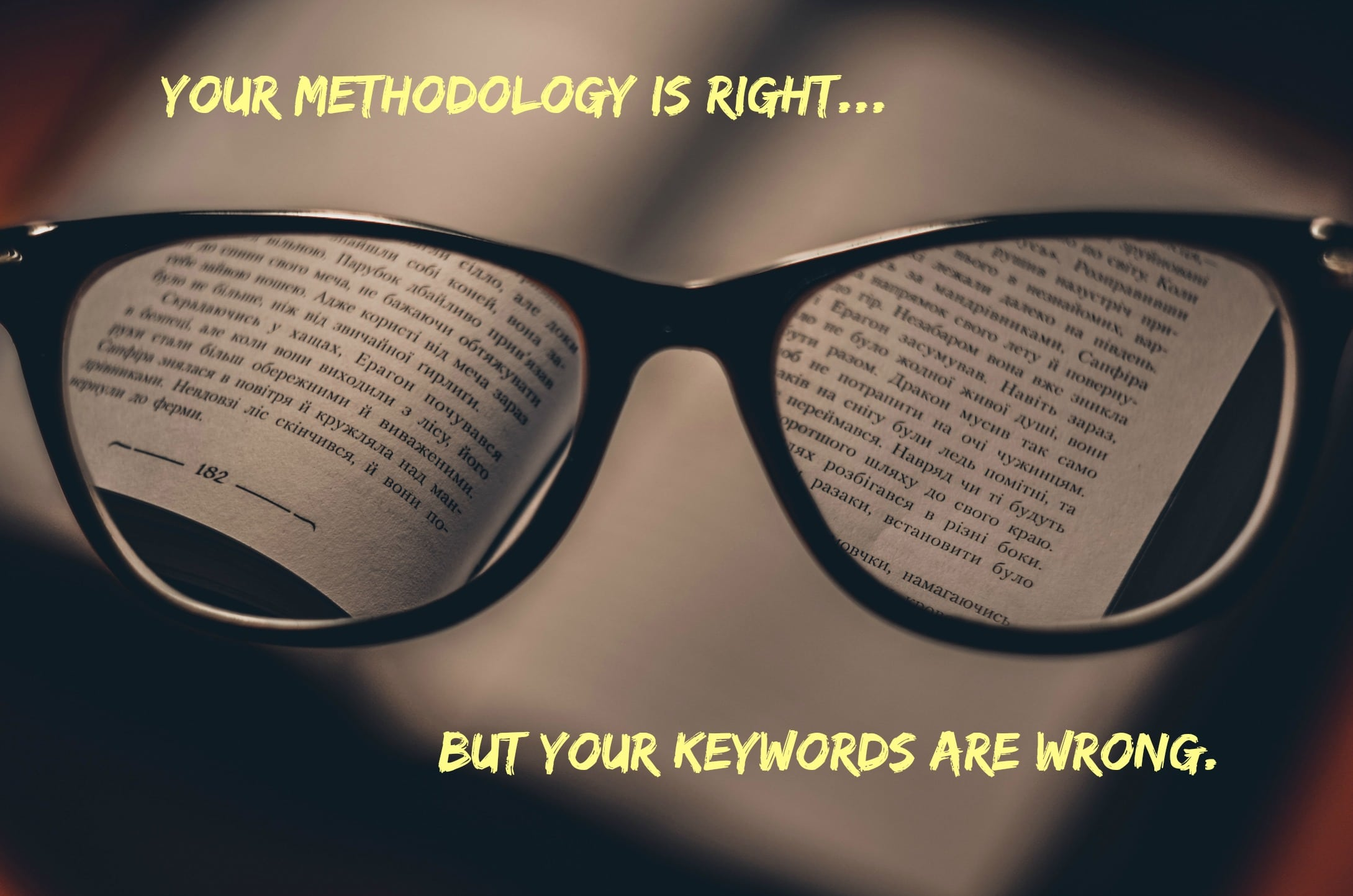 keyword optimization glasses
