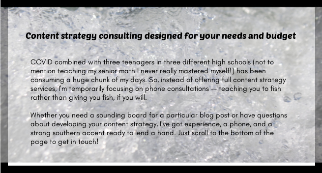 content strategy consulting services